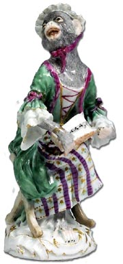 meissen - affenkapple monkey band figure