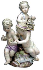 Meissen Cherub Figure Group