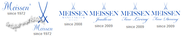 Meissen Porcelain Marks from c1972 to 2009