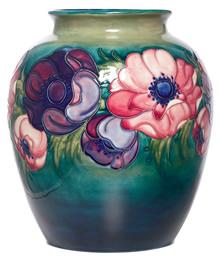 Moorcroft Anemone Design Vase