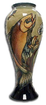 moorcroft philip gibson trout vase