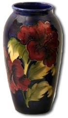 Moorcroft Hibiscus Design Vase