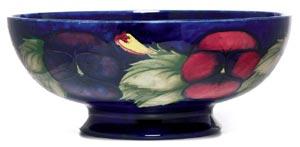 Moorcroft Pansy Design Bowl