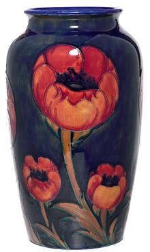Moorcroft Poppy Design Vase