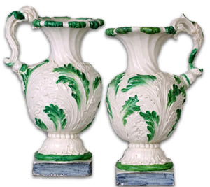 Pair of Naples Real Fabrica Vases