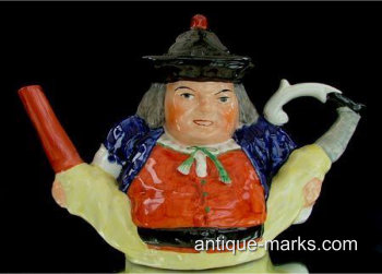 Be passionate buy antiques you love - Novelty antique teapots for instance