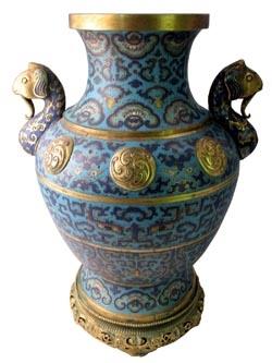 Qianlong Cloisonne Ware Vase