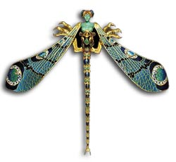 Antique Jewellery - Rene Lalique art deco dragonfly brooch
