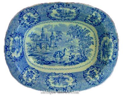 Ridgways Flow Blue Meat Platter