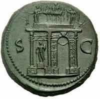 Roman Empire Sestertius Reverse