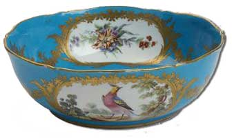 18thC Sevres Porcelain Bowl