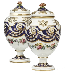 Sevres Porcelain Pot Pourri
