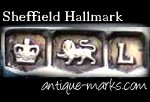 Example Sheffield Silver Hallmark - Crown