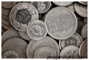 Silver Swiss Francs