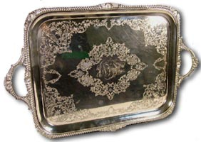 antique marks - antique silver tray