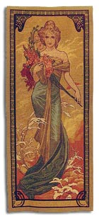 Art nouveau tapestry - spring
