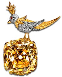 tiffany yellow diamond brooch