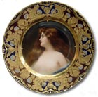 antique marks glossary - vienna porcelain plate
