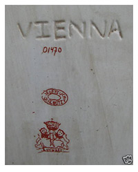 Dating Vienna Porcelain Marks: Bindenschild & Beehive Mark -