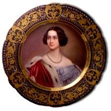 antique marks glossary - royal vienna porcelain portrait plaque