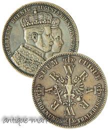 Vintage Austrian Silver Coin - Kroenungs Thaler 1861