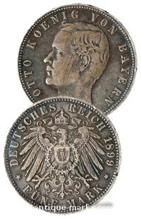 Vintage German Mark Coin - 1899