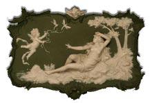 Volkstadt art nouveau plaque