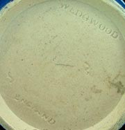 Antique Wedgwood marks - standard mark with three digit code after 1898 with England added