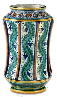 William de Morgan maiollica style vase