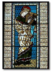 William de Morgan stained glass window - King David c1875
