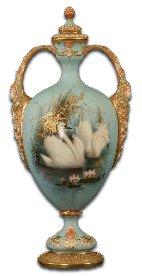 Royal Worcester Baldwyn Swan Vase