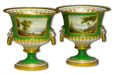 Pair Royal Worcester vases by Davis