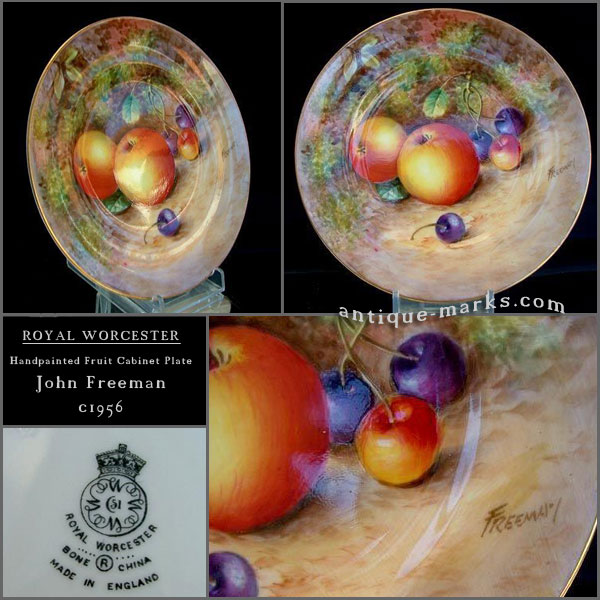 Antiques Collection - Worcester Fruit Painted Plate