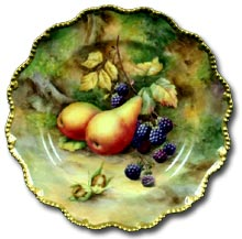 Worcester fruit plate by Horace Price
