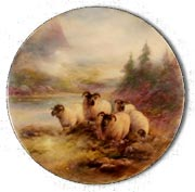 Antique Marks - Royal Worcester porcelain plaque