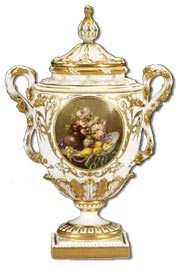 Royal Worcester fruit painted by william hawkins