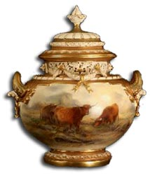antiques marks - royal worcester artists the stintons