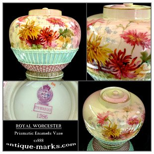 Antiques Collection - Worcester Prismatic Enamels