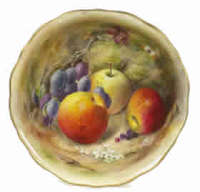 Worcester Gallery - William Ricketts Fruit Painted Porcelain Bowl