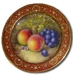 Worcester Fruit painted by Richard Sebright