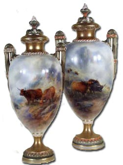 Pair Worcester Stinton Vases