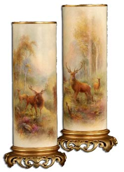 Worcester Stinton Harry Stinton Stag Vases