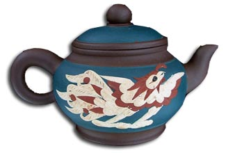 antique marks - antiwue terms r - a yixing red stoneware dragon teapot