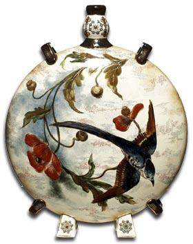 Zsolnay  moon flask vase