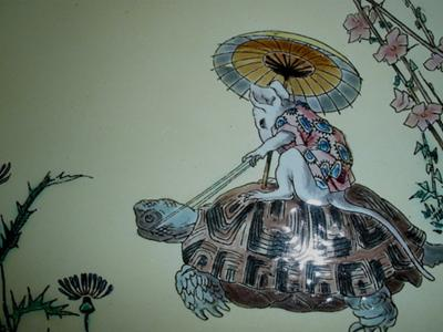 tortoise and mouse decoration