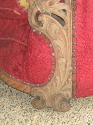 Victorian Parlour Chair carved decoration