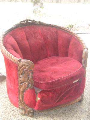 Front and Seat of Victorian Parlour Chair