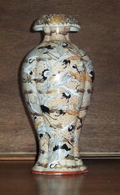 Porcelain Vase With Cranes