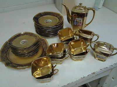 Arzberg Bavaria 22 Carat Gold Porcelain Tea Set