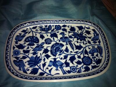 Blue & White Porcelain Plate Decoration